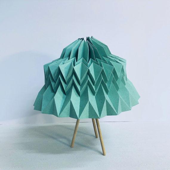 lámpara de origami